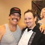 The author poses with Machete and Desperado star Danny Trejo