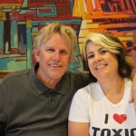 Point Break and Celebrity Apprentice star Busey poses with an adoring fan