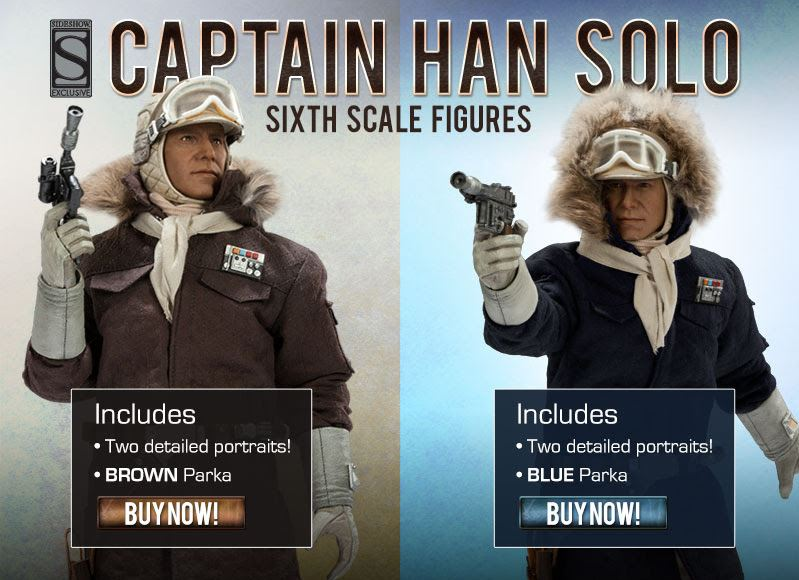 Hoth Han Solo Sideshow Figures