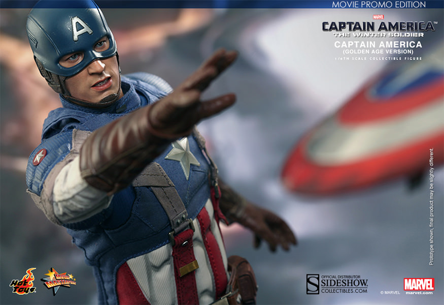 Hot Toys Captain America - Golden Age Suit - MOVIE PROMO Version