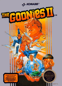 A couple years later my dream of Goonies 2 came true--but in a Nintendo game.  My script was better; it didn't have needless mermaids.