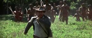 People ran to catch Indiana Jones in Raiders.