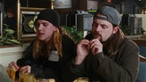 Jay and Silent Bob (Mewes and Smith) appear in Amy, breaking the mood of the film.