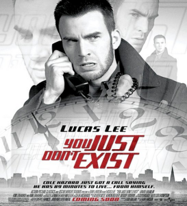 A fake poster created for the film, featuring Chris Evans' action hero character.