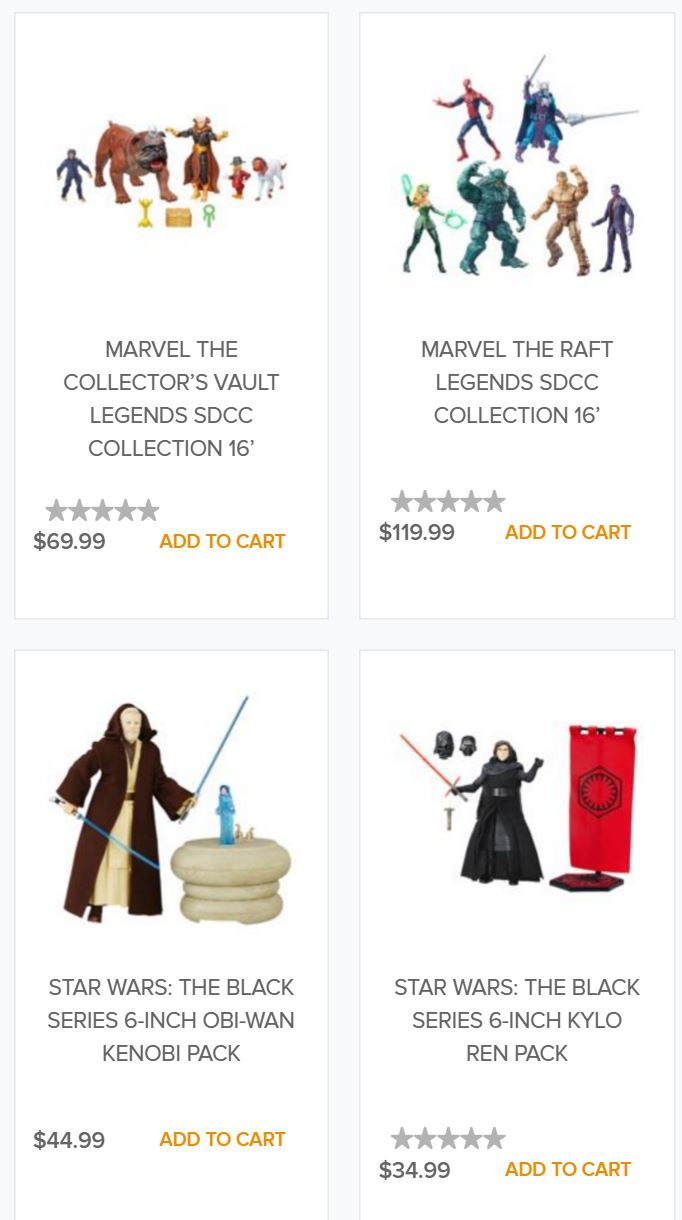 SDCC exclusives 2016